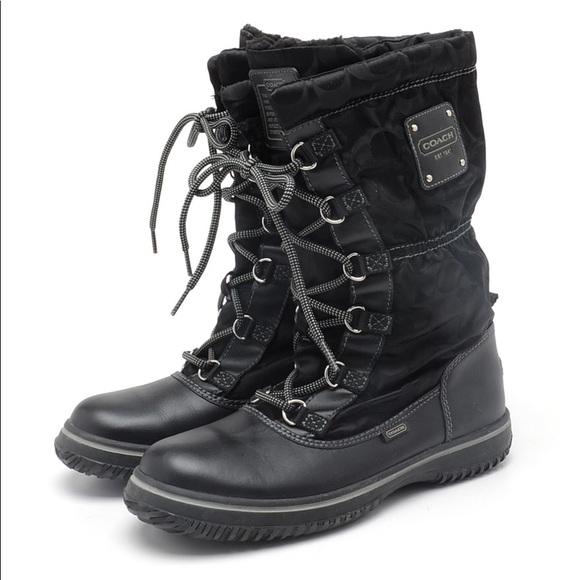 Coach Shoes   Coach Snow Boots Laceup
